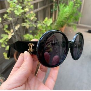 🥂HP🥂 💯 Auth. VTG Round Chanel Sunglasses